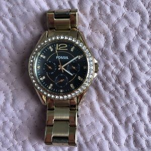 Gold-toned Women's Fossil Watch